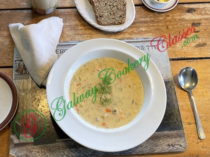 Galway Cookery Classes - Seafood Chowder