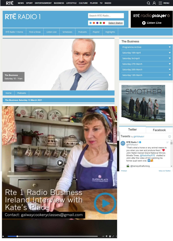 RTE The Business Interview with Kate Wright Galway